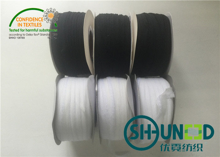 Clothes Accessories White / Black Color Trimmings For Welt Seam 1CM Width