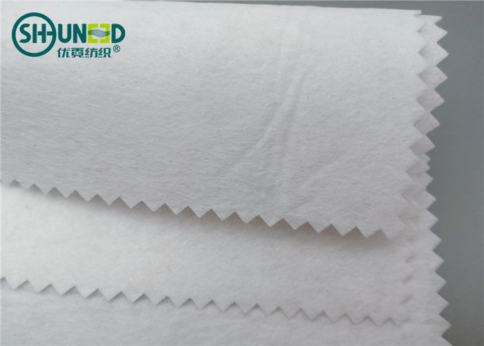 Soft Embroidery Backing Fabric Air Laid 100% Polyester Cut Away Eco - Friendly